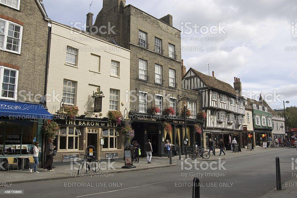 Bridge Street pubs, Cambridge stock photo
