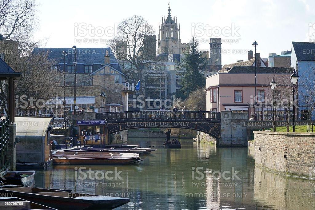 Bridge Street Punts, Cambridge, England stock photo