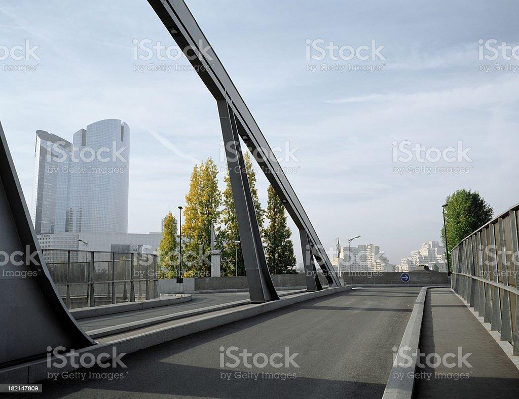 Bridge, suburban Paris, France. stock photo
