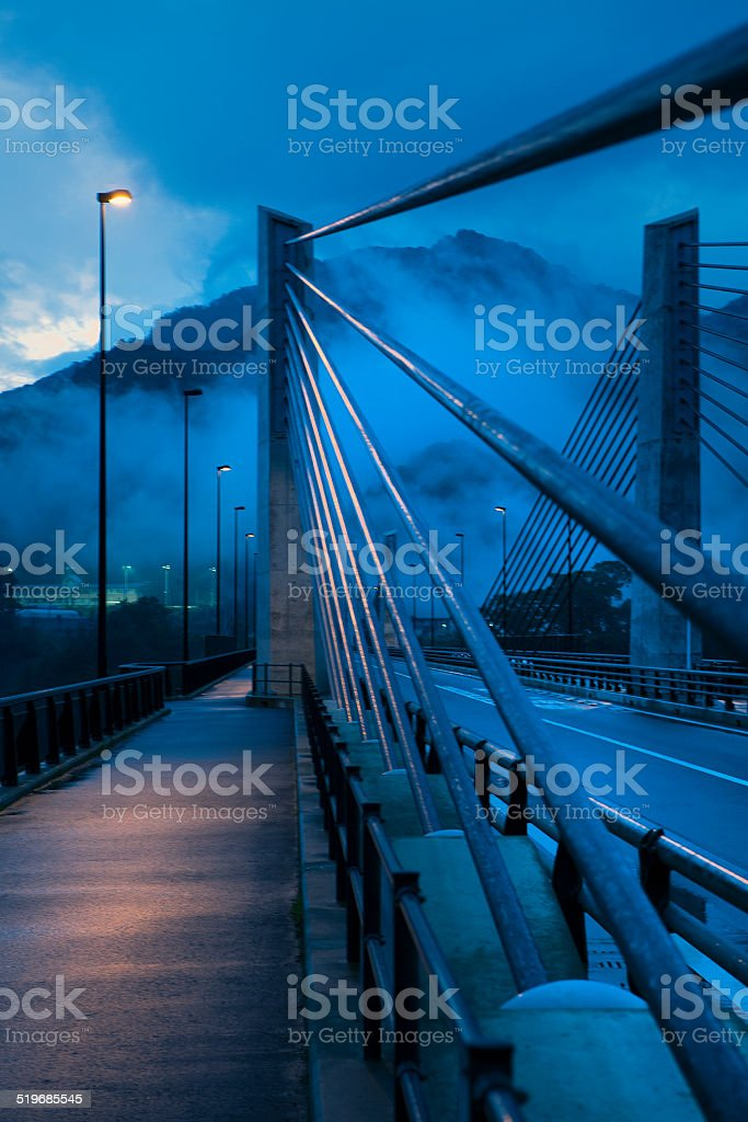 Bridge supports stock photo