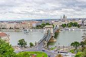 Bridge Szechenyi in Budapest, Hungary.