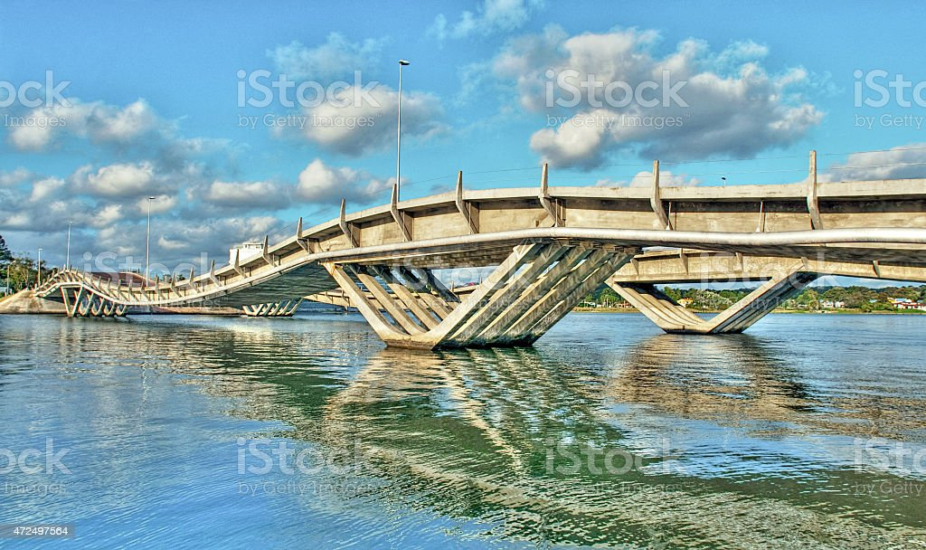 bridge la Barra stock photo