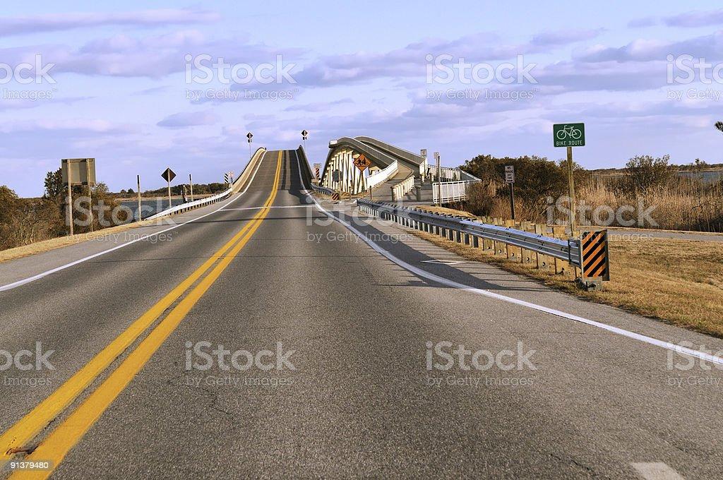 Bridge To Assateague Island stock photo