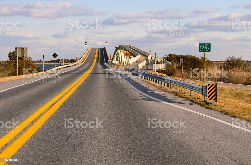 Bridge To Assateague National Seashore stock photo