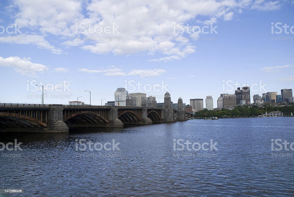 Bridge to Boston royalty-free stock photo