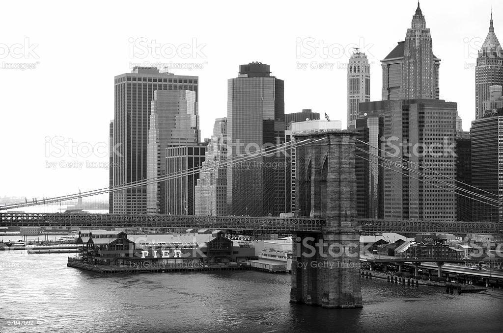 Bridge to Brooklyn royalty-free stock photo