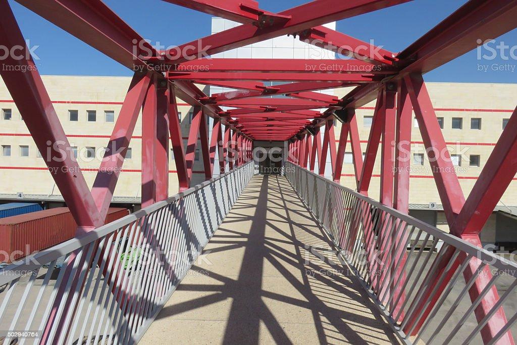 Bridge to businesses stock photo