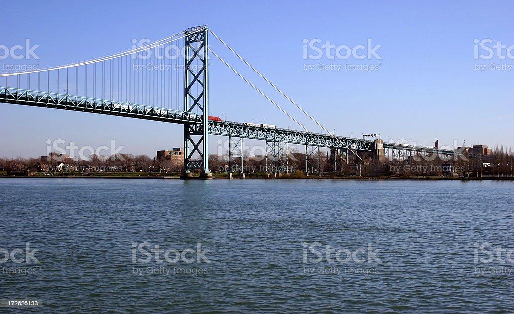Bridge to Canada stock photo