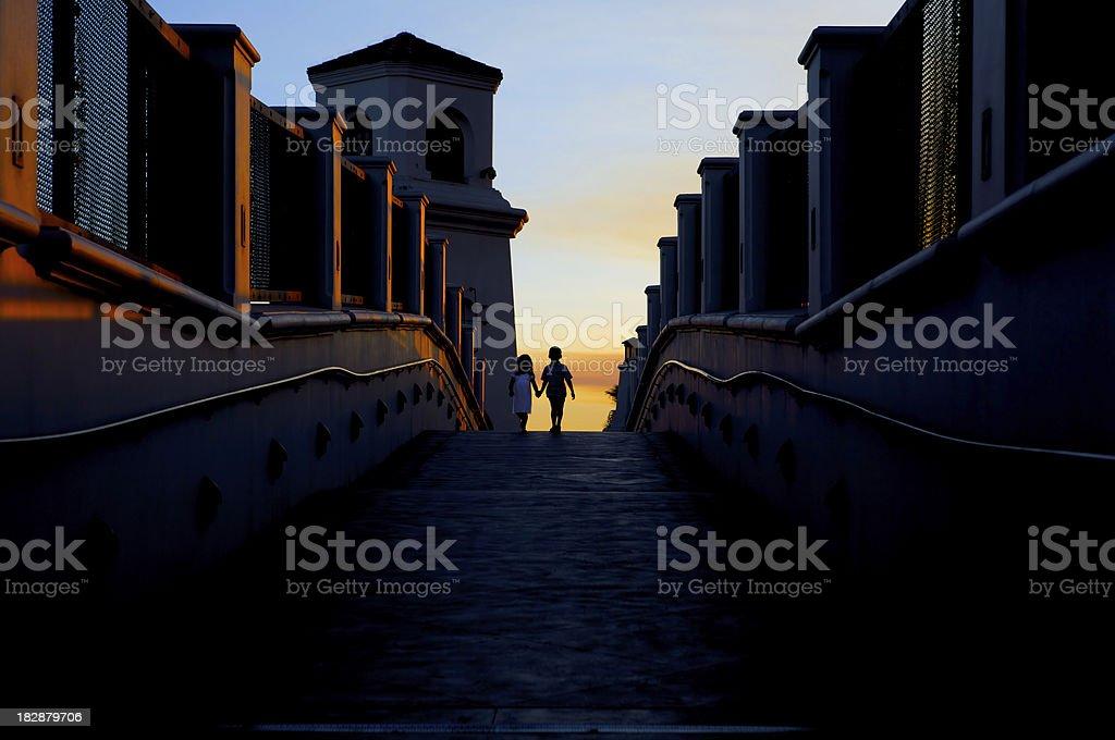 bridge to future royalty-free stock photo