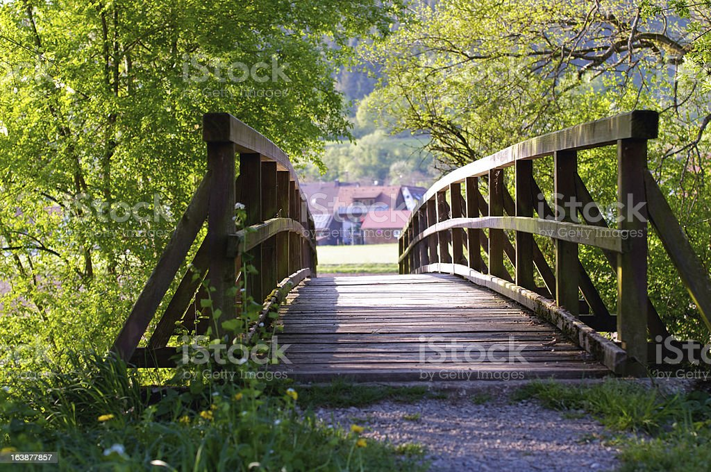 Bridge to nature. stock photo