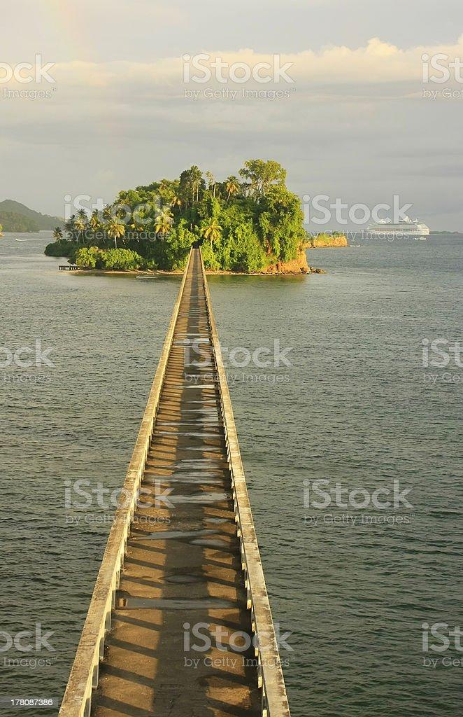 Bridge to Nowhere, Samana Bay stock photo