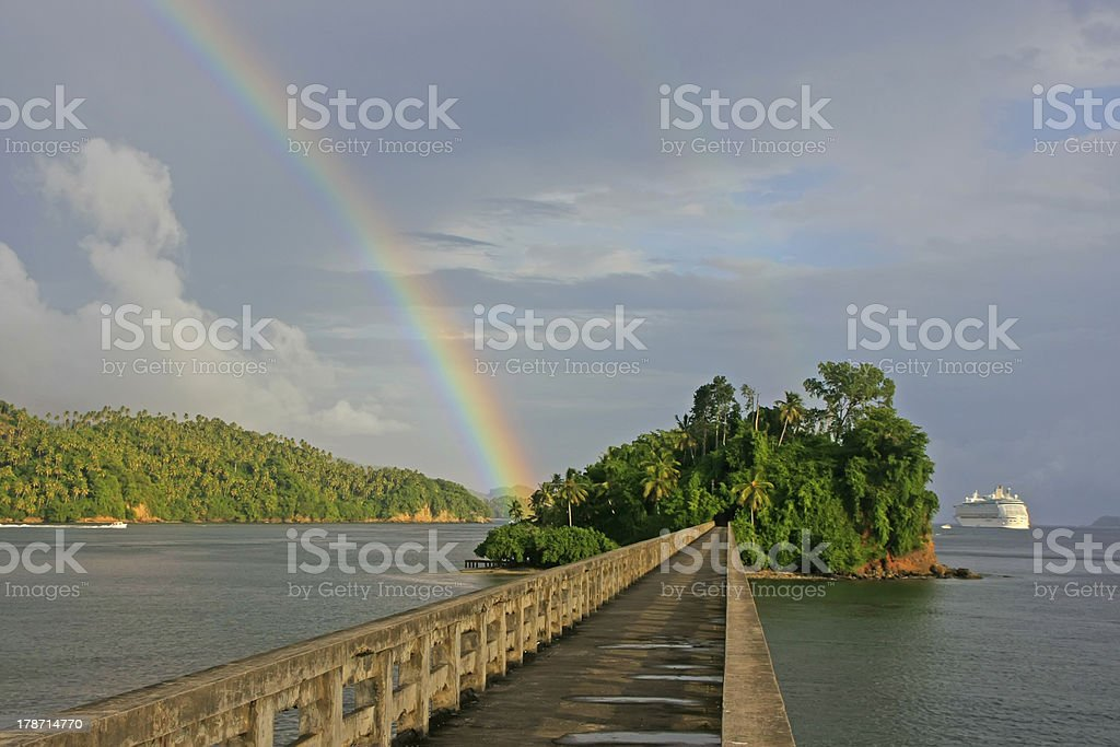 Bridge to Nowhere, Samana Bay stock photo