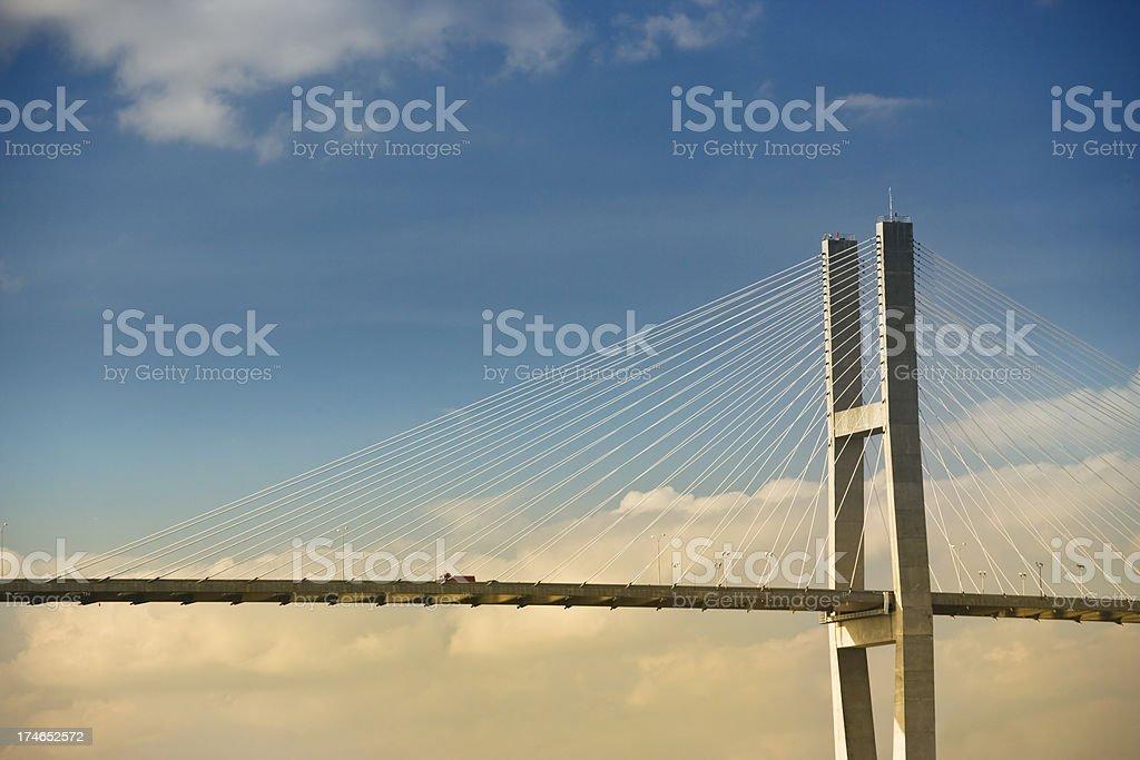 Bridge to Savannah Georgia stock photo