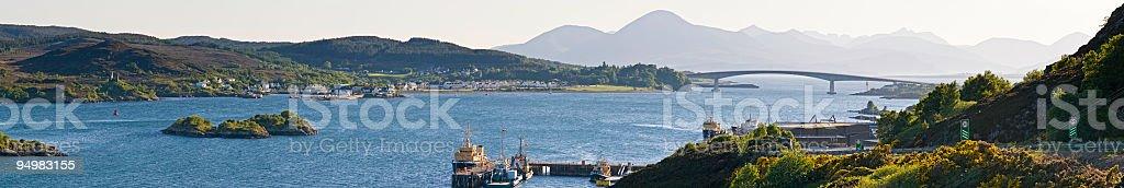 Bridge to Skye panorama Scotland royalty-free stock photo