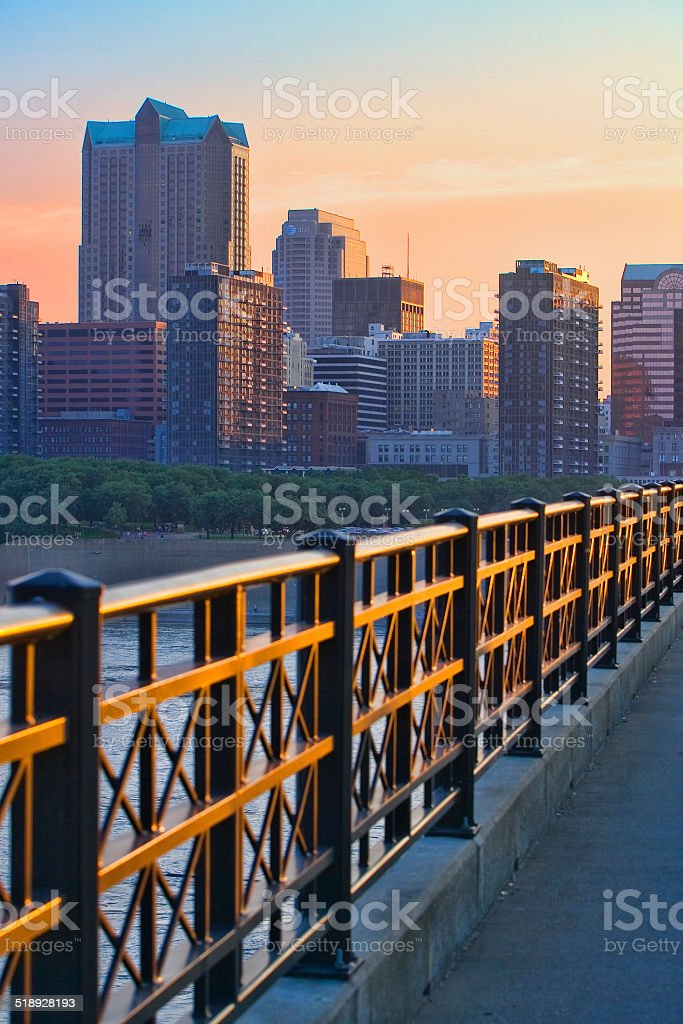 Bridge to St. Louis stock photo
