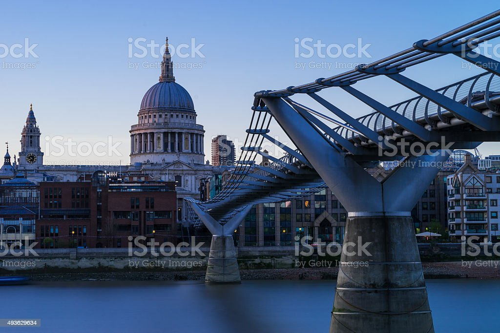 Bridge to St Pauls stock photo