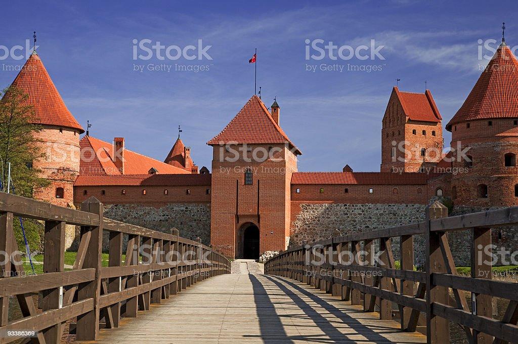 bridge to the castle stock photo