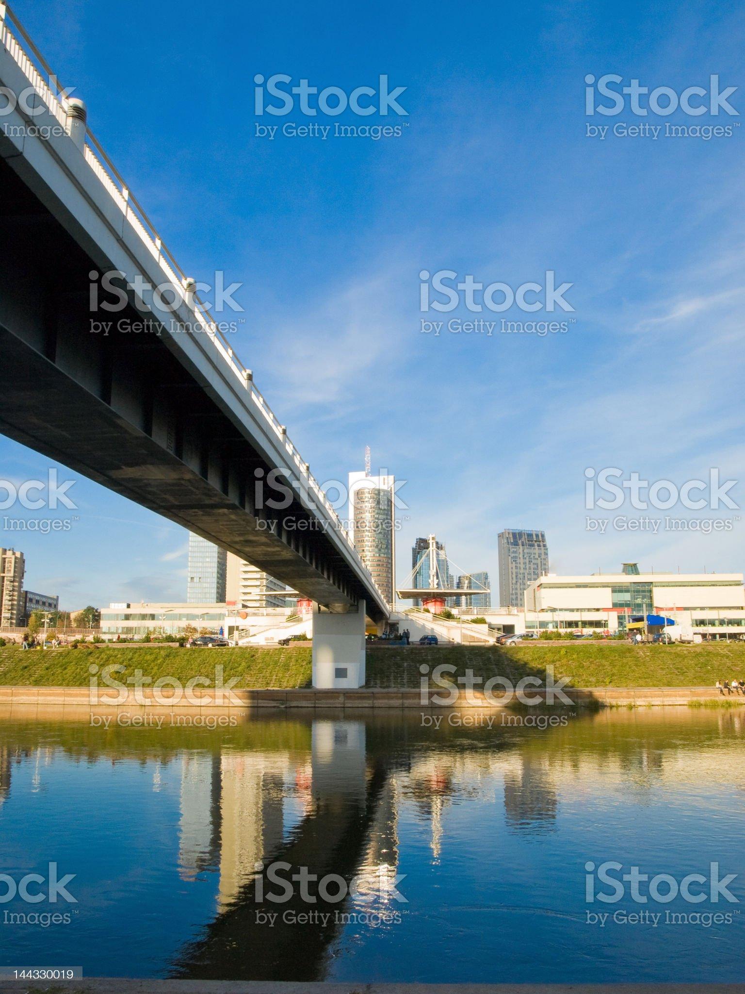 Bridge to the city royalty-free stock photo