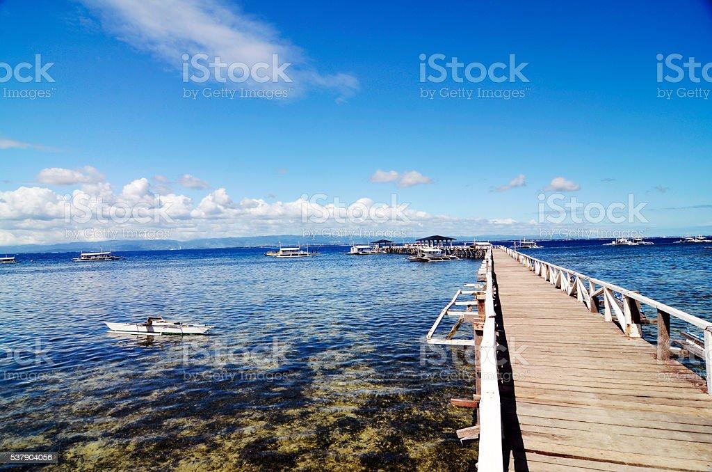 bridge to the dock stock photo