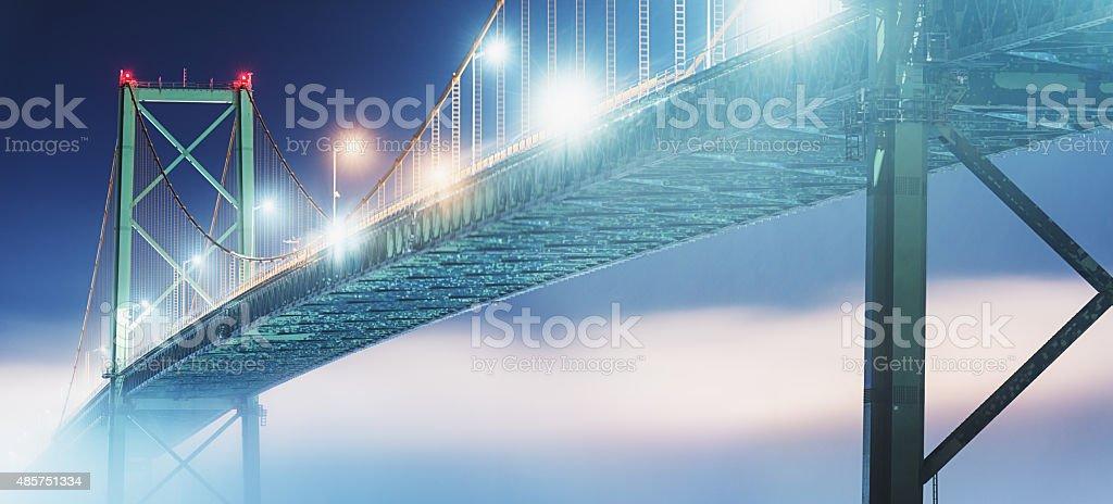Bridge to the Fogbank stock photo