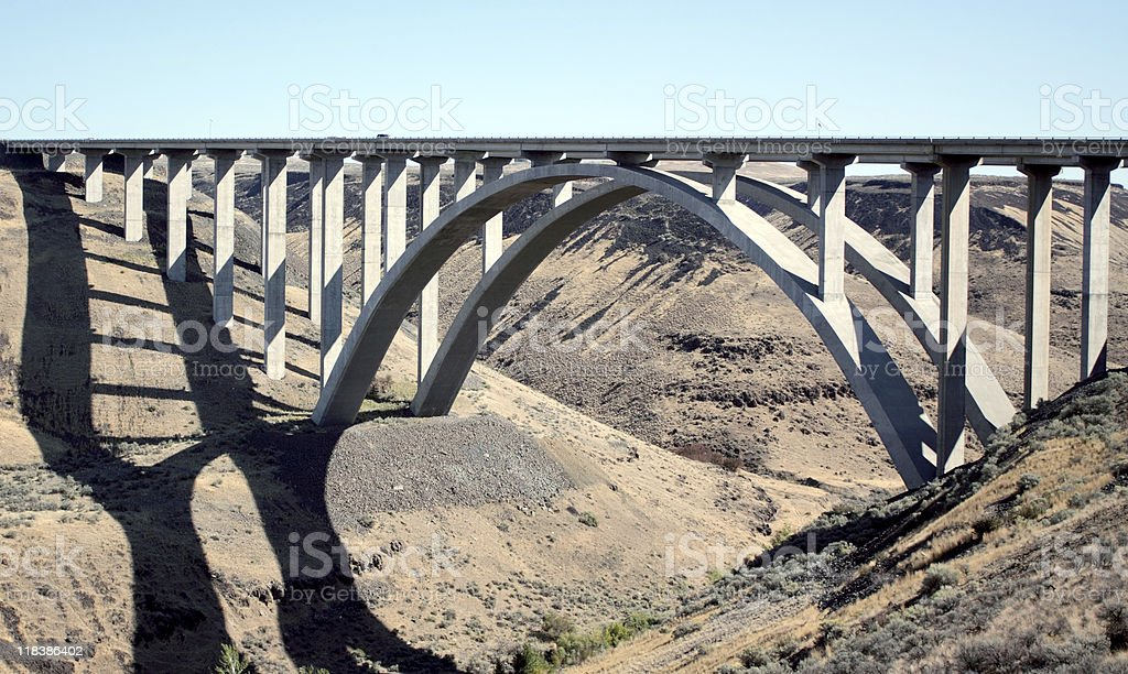 Bridge to Yakima stock photo