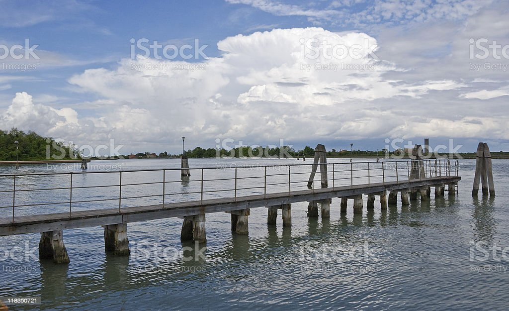 Bridge towards clouds royalty-free stock photo