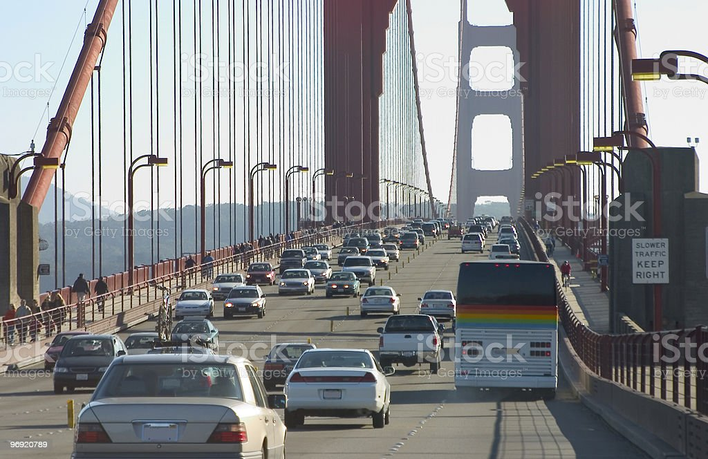 Bridge Traffic royalty-free stock photo