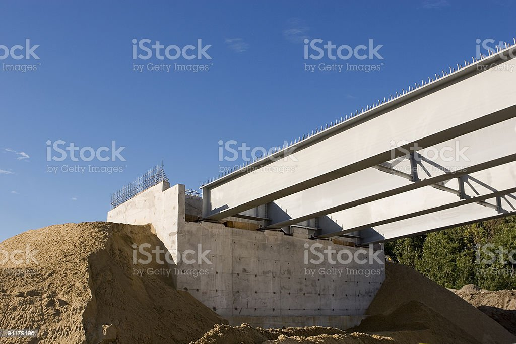 Bridge Under Construction stock photo