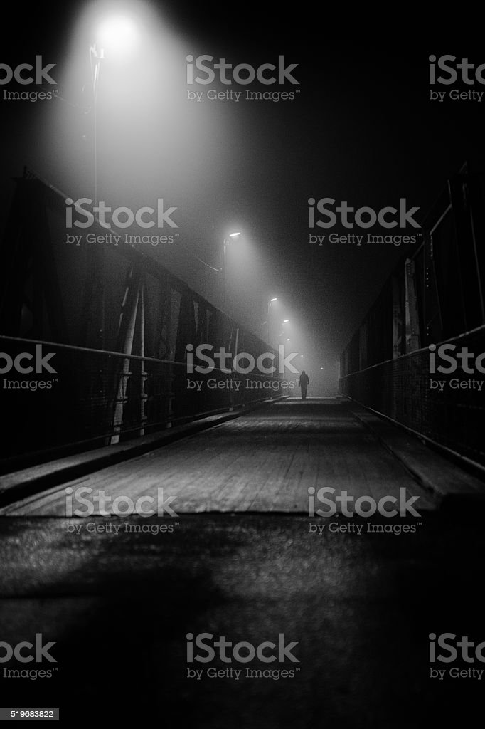 Bridge walker stock photo