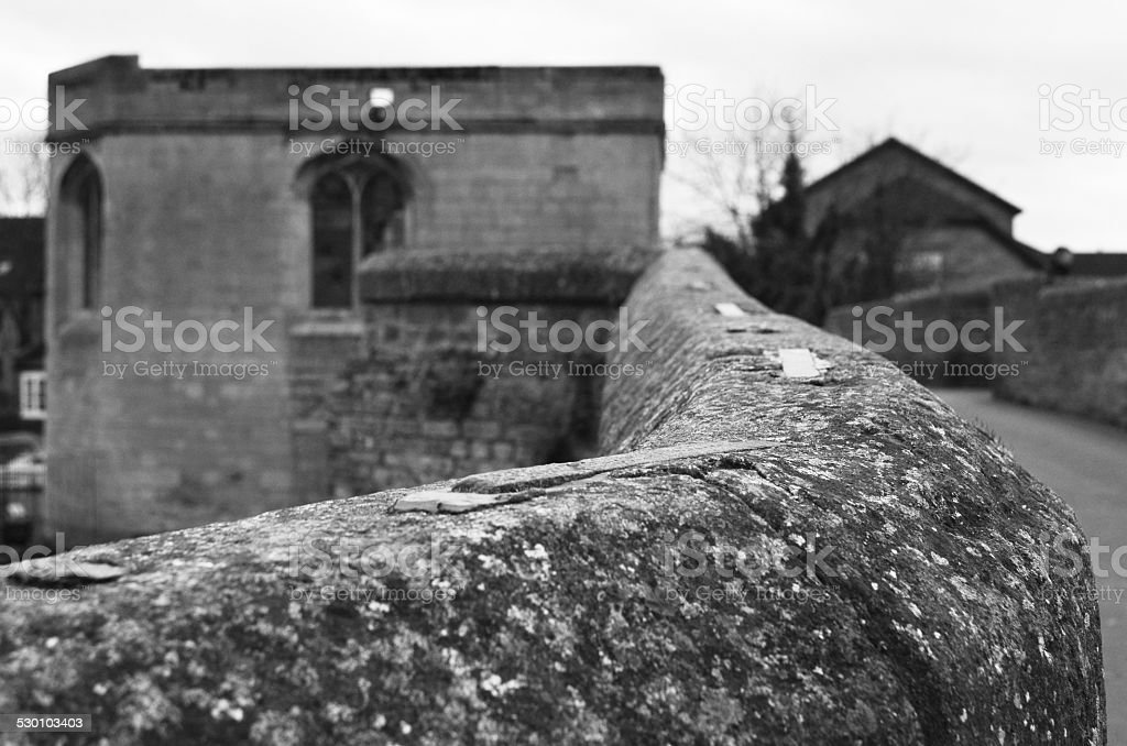 Bridge wall stock photo