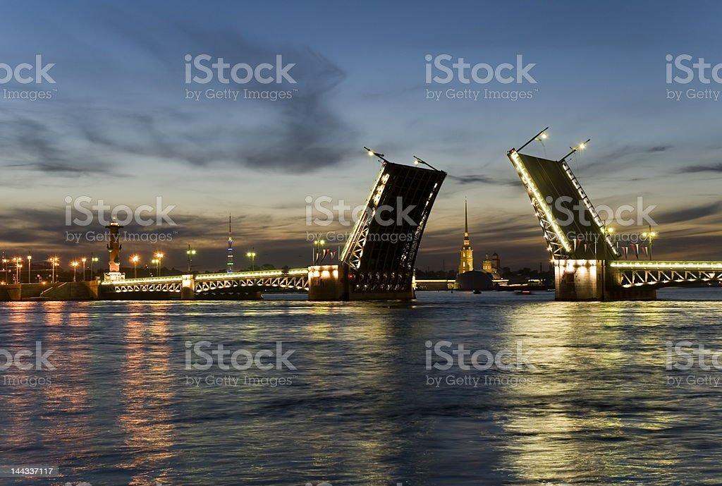Bridge - White night stock photo