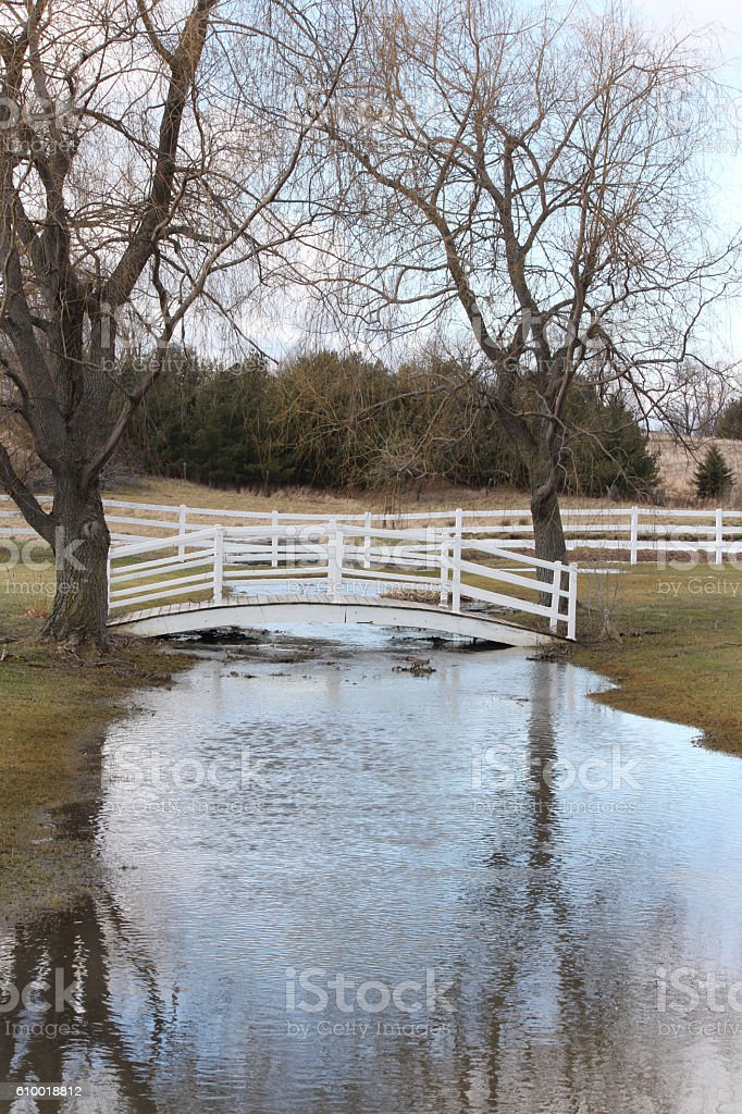 Bridge White Wood stock photo