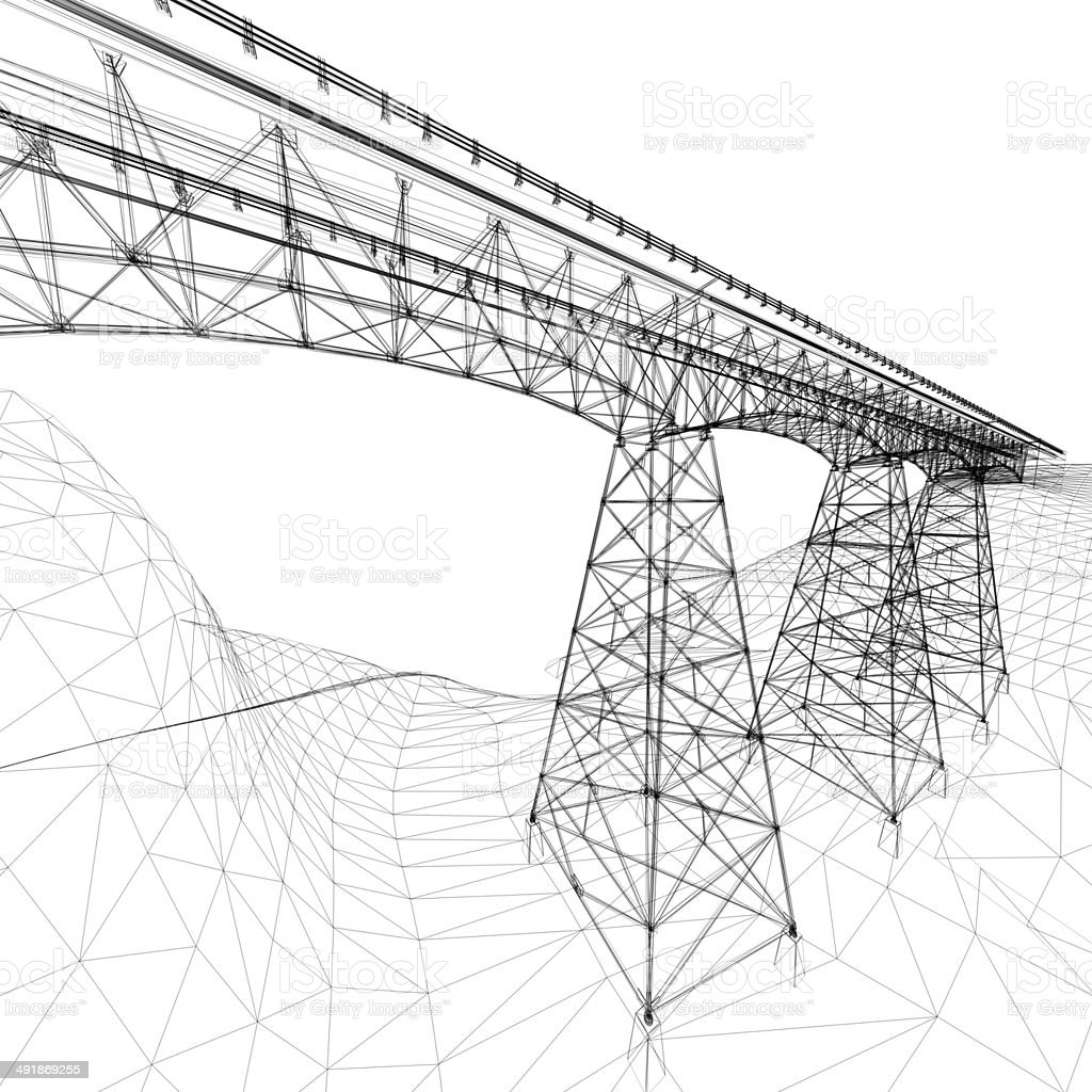 Bridge Wireframe stock photo