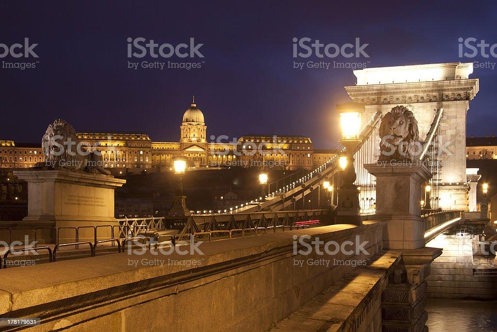 bridge with lions royalty-free stock photo