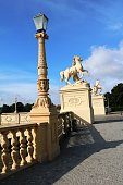 Bridge with Pegasus sculptures in Schwerin, Germany