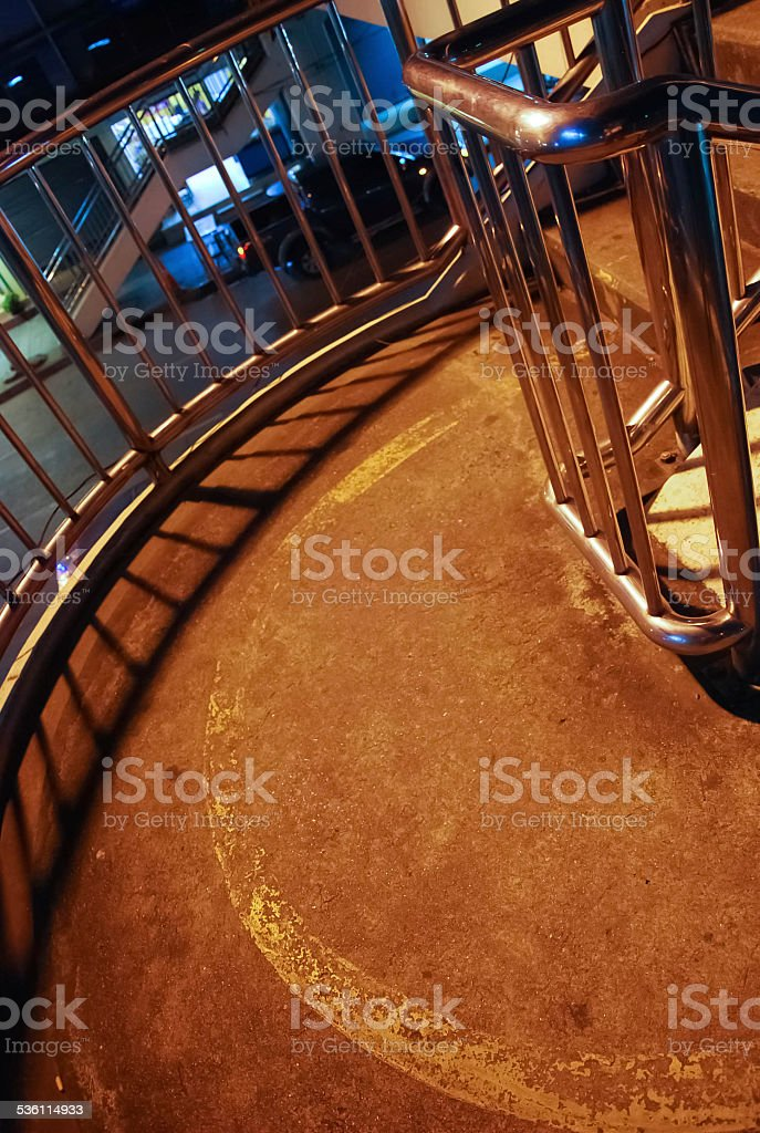 bridge with rail. stock photo