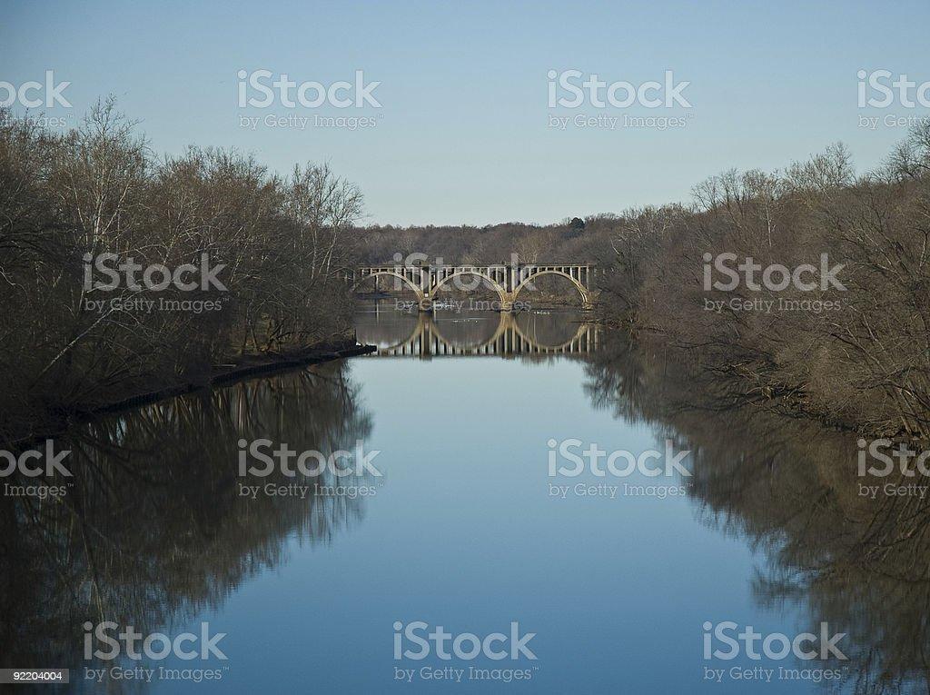 Bridge with reflection stock photo