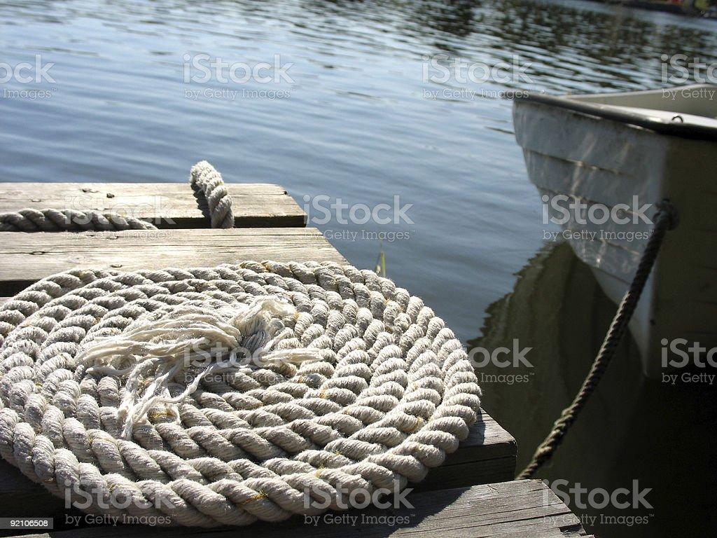 Bridge with rope 3 royalty-free stock photo