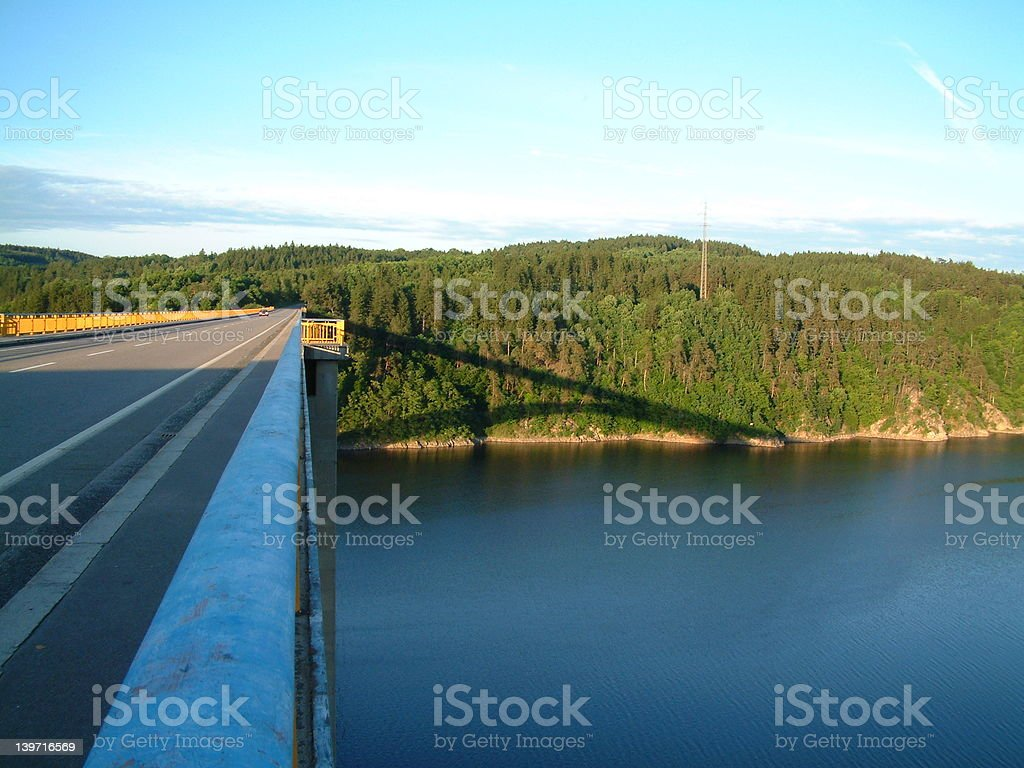 Bridge with shadow royalty-free stock photo