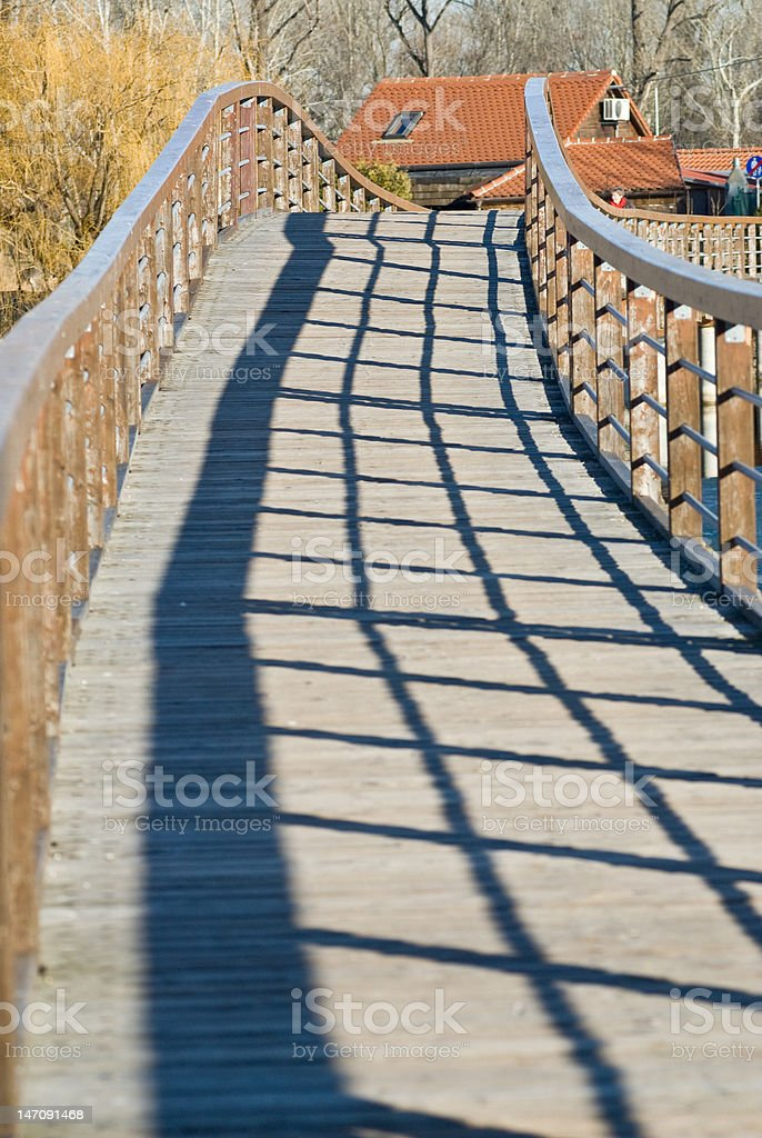 bridge with shadow stock photo