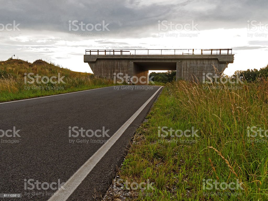 bridge without function stock photo
