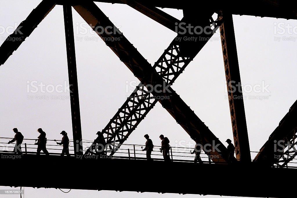 Bridgeclimb on the Sydney Harbour Bridge stock photo