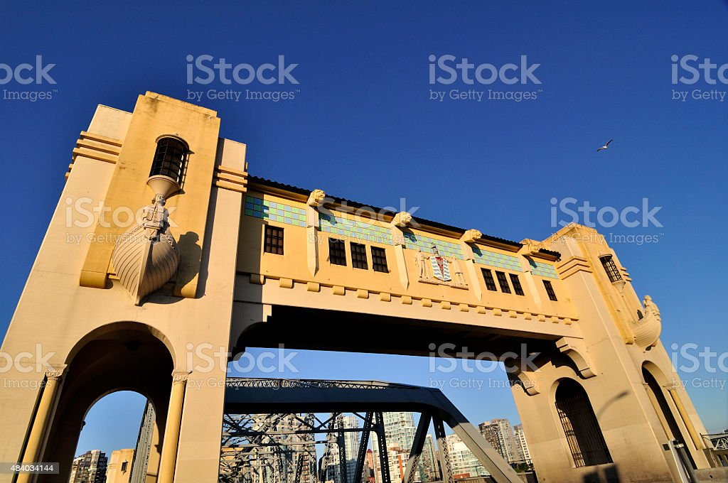 Bridgehead of Burrard Bridge stock photo