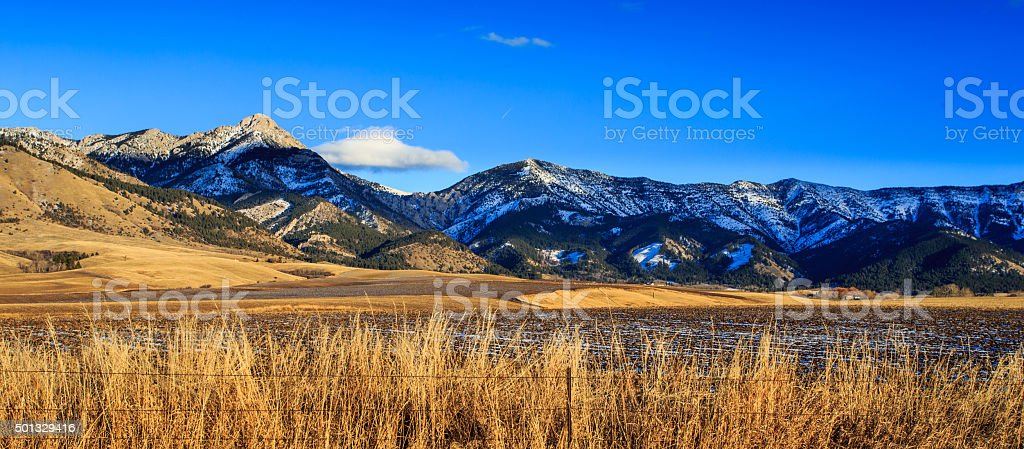 Bridger Mountain Range. stock photo