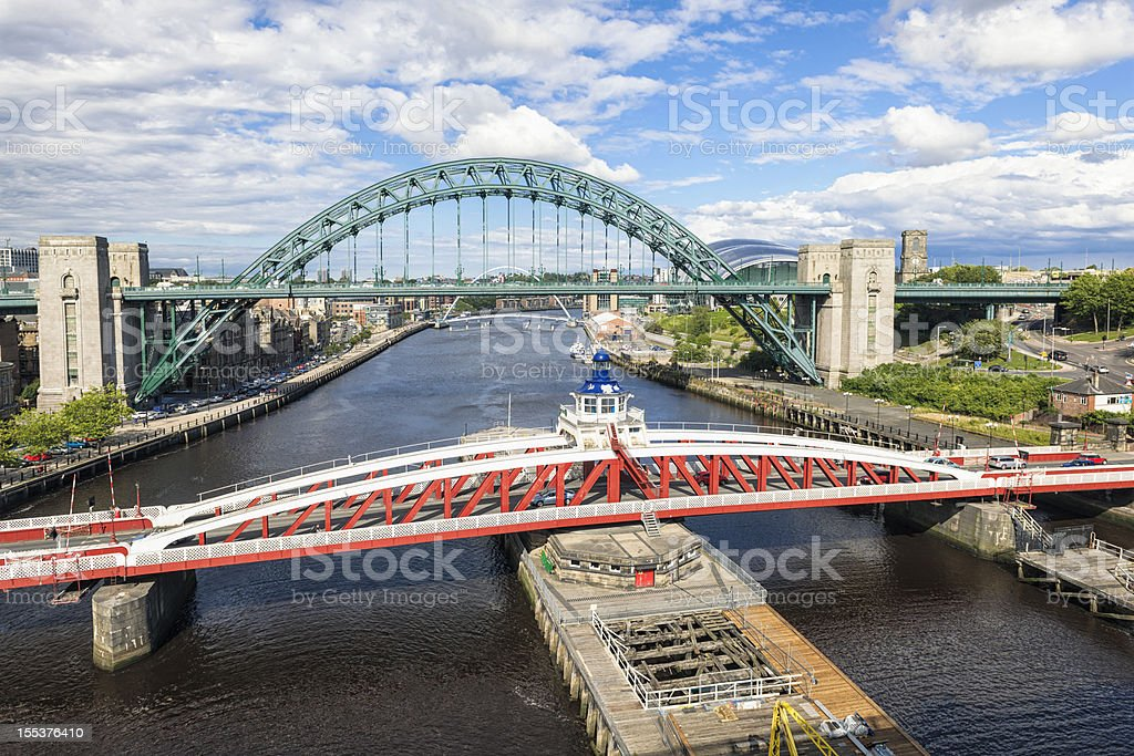 Bridges Across the River Tyne royalty-free stock photo