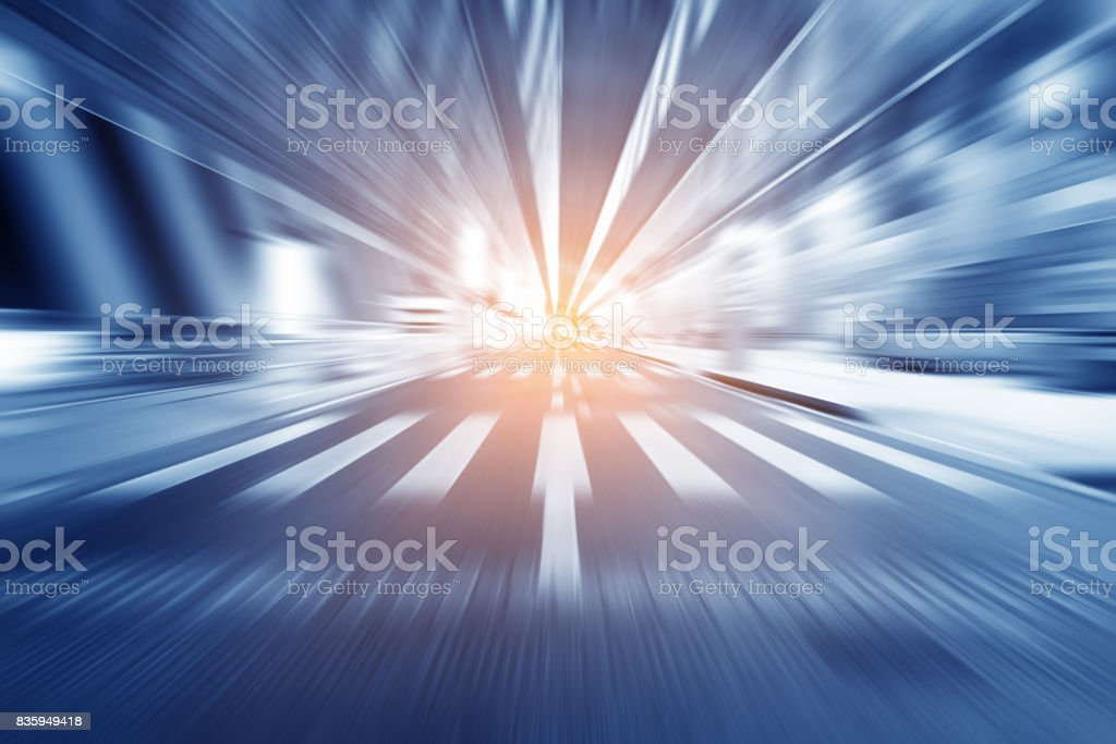 Bridges and high-speed driving truck stock photo