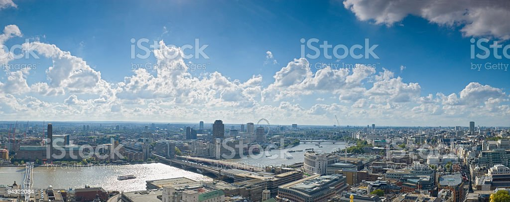 Bridges and tourist attractions, London royalty-free stock photo