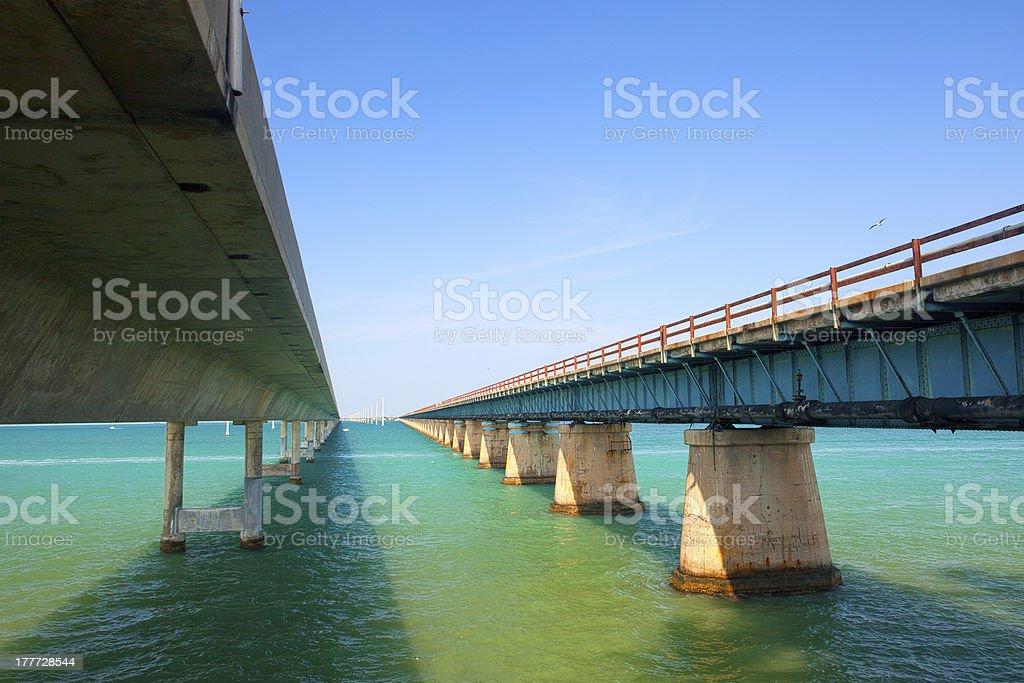 Bridges going to infinity stock photo