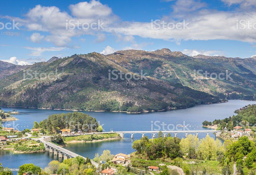 Bridges in national park Peneda Geres stock photo