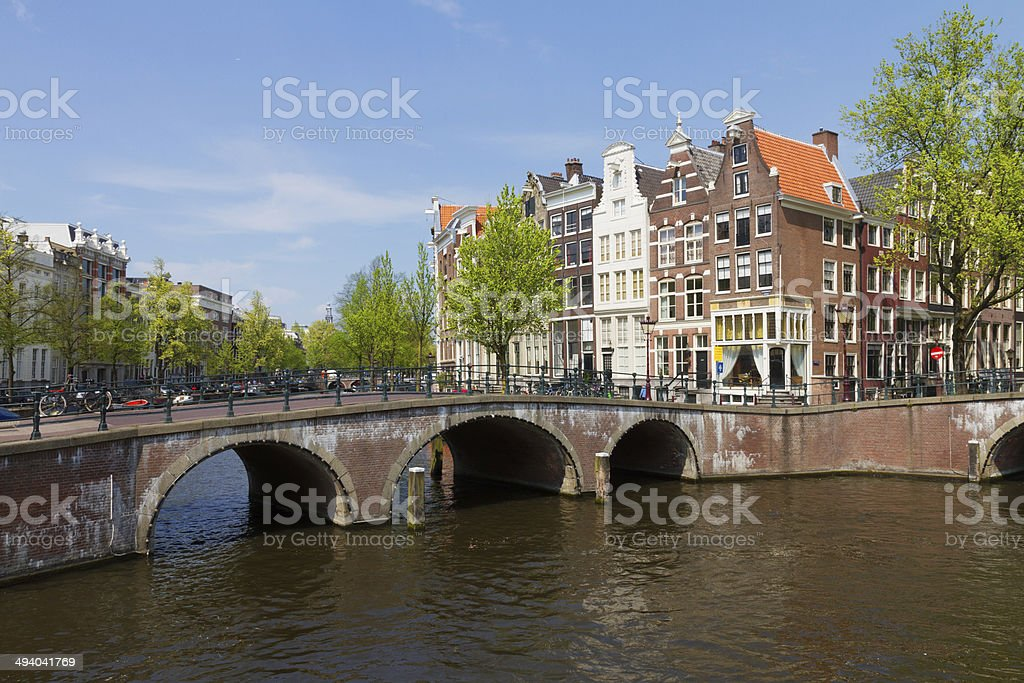 bridges of canal ring, Amsterdam royalty-free stock photo